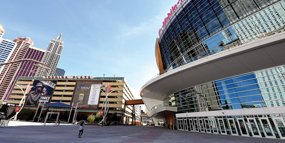 T-Mobile arena, conveniently located on the Las Vegas Strip