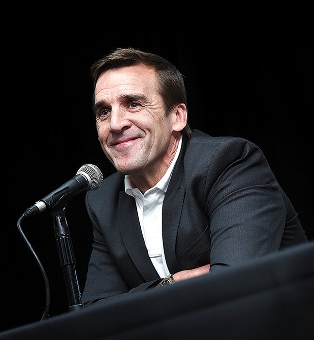 George McPhee speaks after being introduced as the general manager on July 13, 2016
