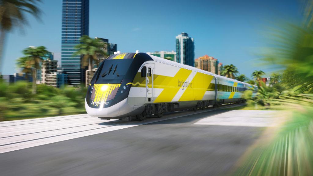 A Brightline train in action. Photo courtesy of Brightline