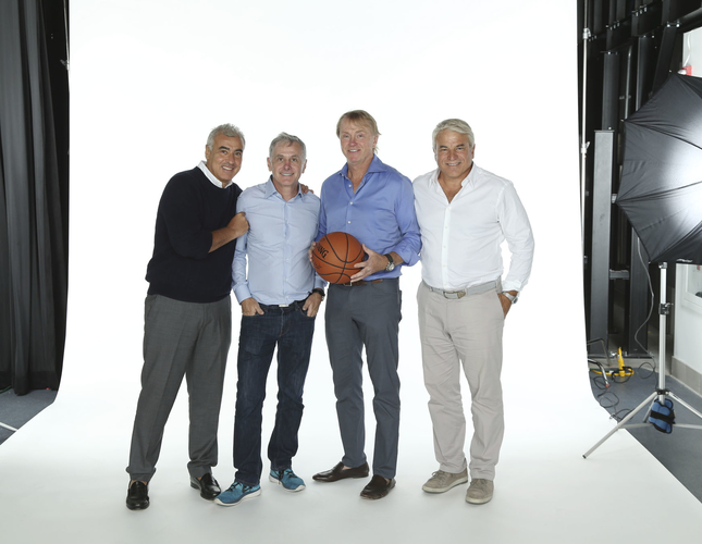 Bucks' owners Marc Lasry, Jamie Dinan, Wes Edens and Mike Fascitelli. Photo by Milwaukee Bucks